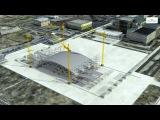 Строительство 2-го саркофага на Чернобыльской АЭС.